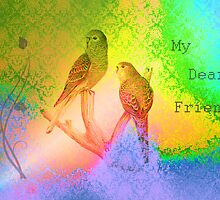 My Dear Friend. Vintage Card. by Vitta