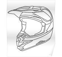 Mx Helmet Black Poster