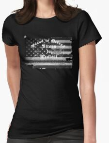 Second Amendment  Womens Fitted T-Shirt