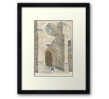 Front Façade - Bussière-Badil Church, France Framed Print