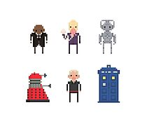 Pixel Doctor Who various characters - Set of 6 by fulifuli