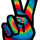 Peace Sign (Tie Dye) by BlueWallDesigns