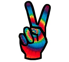 Peace Sign (Tie Dye) Photographic Print
