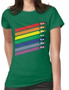 Race The Rainbow Womens Fitted T-Shirt