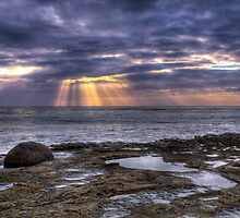 Sun Rays On The Ocean by Eddie Yerkish