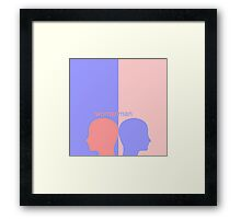 man-woman Framed Print