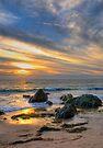 Low Tide at Sunset by Eddie Yerkish