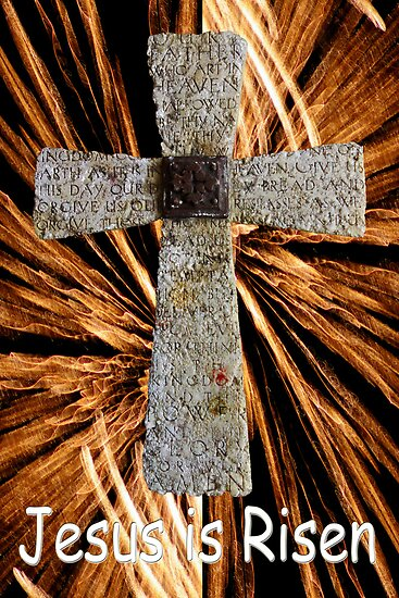 Lord's prayer cross with fireworks by dedmanshootn
