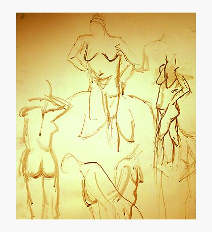 Nude Painting Photographic Print