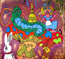 Alice & The Hooka smoking Caterpillar by Octavio Velazquez