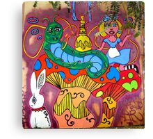 Alice & The Hooka smoking Caterpillar Canvas Print