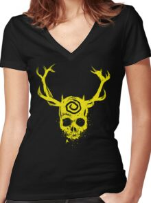 Yellow King Women's Fitted V-Neck T-Shirt