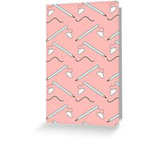 Pencil Pattern Greeting Card