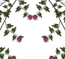 romantic roses vintage ornament Sticker