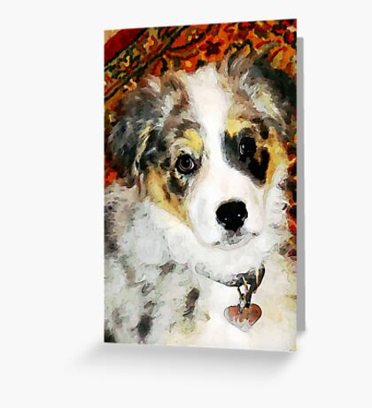 "Australian Shepherd ""Missy"" Greeting Card"