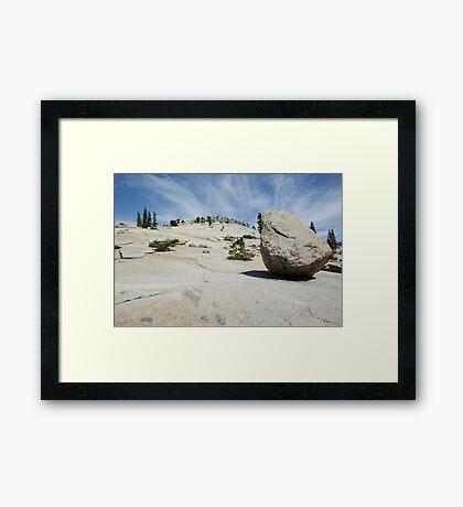 Lunar Rock Framed Print