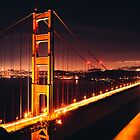 Golden gate bridge - night by shoenberg3