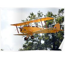 De Havilland Tiger Moth Taking Off Poster