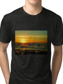 Water Droplet Sunset Tri-blend T-Shirt