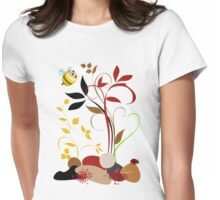 The Bee And The Ladybug With A Smile Womens Fitted T-Shirt