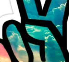 Peace Sticker (Sky) Sticker