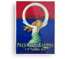Leonetto Cappiello Affiche Pneu Baudou Metal Print