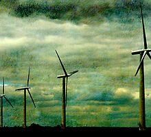 The Wind farm, Oxfordshire by buttonpresser