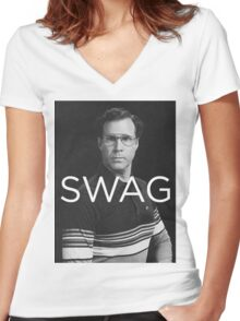 Will Ferrell Swagger Women's Fitted V-Neck T-Shirt