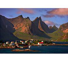 Sorvagen. Moskenesoy Island. Lofotens. Norway. Photographic Print