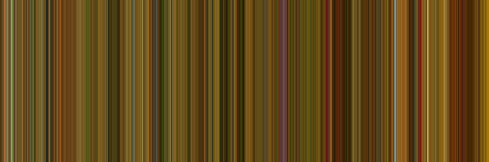 Moviebarcode: Amélie (2001) [Simplified Colors] by moviebarcode