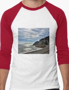 Cliffs at Beer Devon UK Men's Baseball ¾ T-Shirt