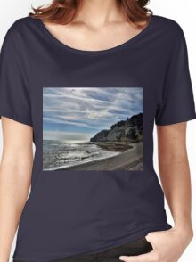 Cliffs at Beer Devon UK Women's Relaxed Fit T-Shirt