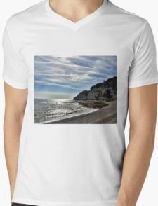 Cliffs at Beer Devon UK Mens V-Neck T-Shirt