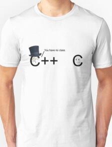 C++ v.s C   Programming language Unisex T-Shirt