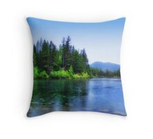 Autumn Rain (Lion Lake) Throw Pillow