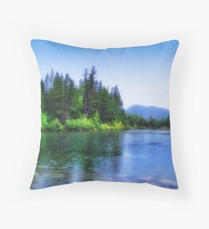 Autumn Rain (Lion Lake) Throw Pillow