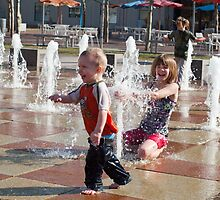 Fountains of Fun2- Crown Center by Jennifer  Arganbright