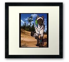 Pine Forest Wolf  Framed Print