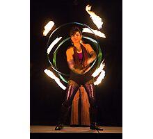 Cirque Roots, Fire Dancers (2 of 2). Tucson, Arizona, USA. Photographic Print