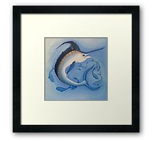 Marlin Blue Deep Sea Wild Game Fish Framed Print