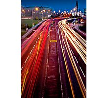 Traffic Trails Photographic Print
