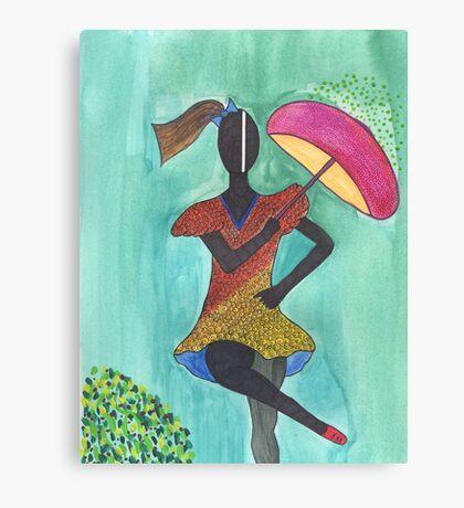 Frevo girl with pink umbrella Canvas Print