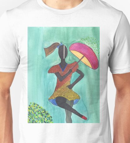 Frevo girl with pink umbrella Unisex T-Shirt