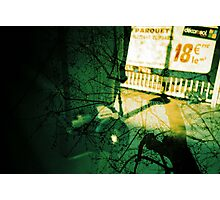 camera in paris with trees, analogue multiple exposure Photographic Print