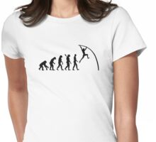 Evolution Pole vault Womens Fitted T-Shirt