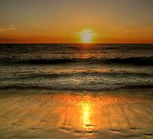 Sunset Over Cottesloe Beach, Western Australia by Christine Smith