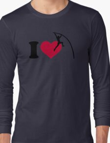 I love Pole vault Long Sleeve T-Shirt