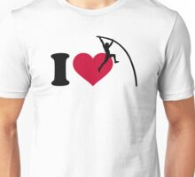 I love Pole vault Unisex T-Shirt