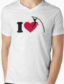 I love Pole vault Mens V-Neck T-Shirt