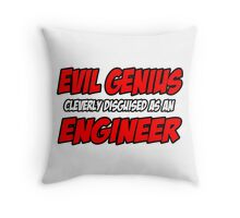 Evil Genius .. Engineer Throw Pillow